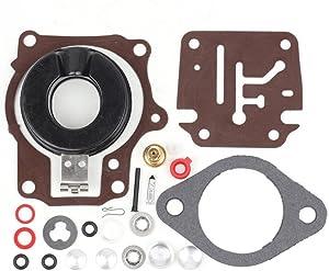Wingsmoto Carb Repair Carburetor Rebuild Kit with Float for Johnson Evinrude Carburetor 396701 20/25/28/30/40/45/48/50/60/70
