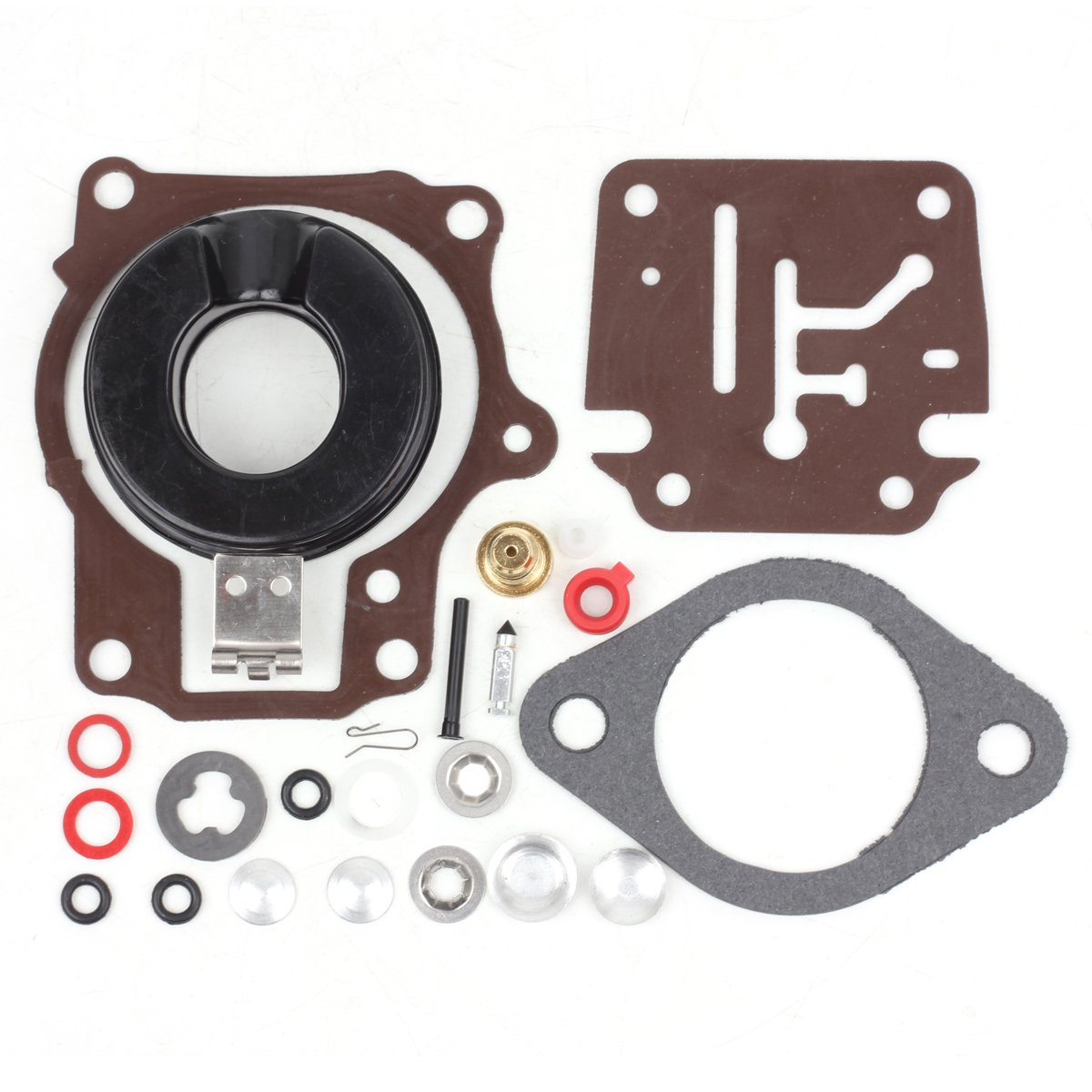 Wingsmoto Carb Repair Carburetor Rebuild Kit with Float for Johnson Evinrude Carburetor 396701 20/25/28/30/40/45/48/50/60/70