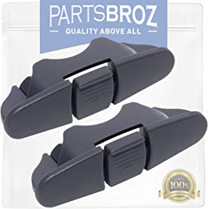 W10508950 Upper Dishrack Stop (2-Pack) for Whirlpool Dishwashers by PartsBroz - Replaces Part Numbers WPW10508950, AP6022472, 8562015, PS11755805, W10199682