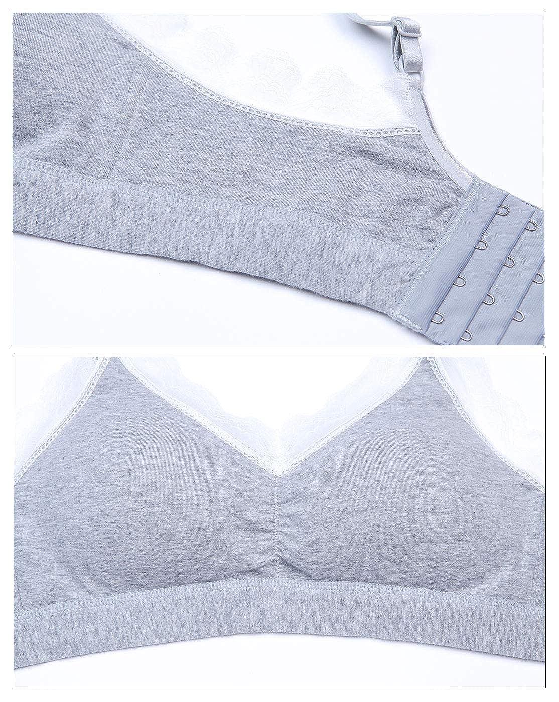 Aivtalk Wireless Lace Nursing Bra for Breastfeeding Plus Size Cotton Maternity Bra Seamless Lightly Sleep Bra