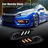 Allinoneparts For Honda Civic 10th 2016 2017 LED DRL Daytime Running Lights Assembly Fog Driving Lamp