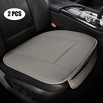 Universal Car Auto Front Seat Covers Protector Cushion Case PU Leather Pad Mat
