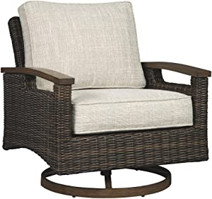 Signature Design by Ashley P750-821 Paradise Trail Swivel Lounge Chair (2/CN), Medium Brown