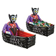Beistle Inflatable Vampire and Coffin Cooler, 3-Feet 6-Inch Width by 30-Inch Height, 1 Piece