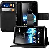 kwmobile Sony Xperia E Hülle - Kunstleder Wallet Case für Sony Xperia E mit Kartenfächern und Stand
