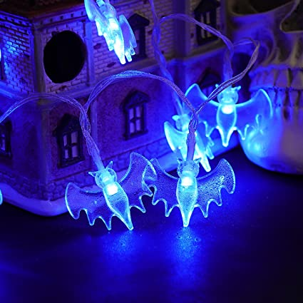 yunlights halloween string lights 115ft 30 led halloween decorations lights string battery operated bat