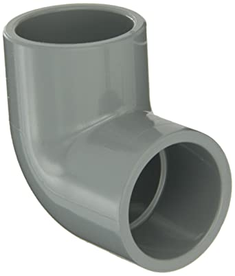 GF Piping Systems CPVC Pipe Fitting, 90 Degree Elbow, Schedule 80, Gray, 1