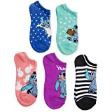 Disney womens Lilo & Stitch 5 Pack No Show Socks Casual Sock - multi - Fits Sock Size 9-11; Fits Shoe Size 4-10.5