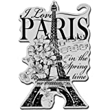 Stampendous Cling Rubber Stamp Sheet, 5.5 by 4.5-Inch, I Love Paris