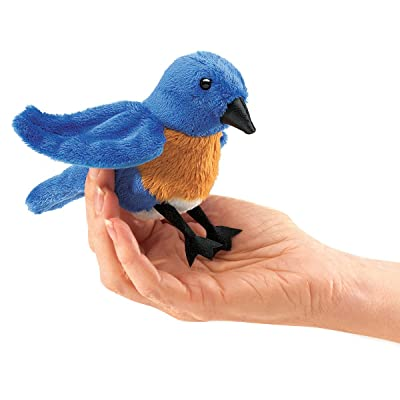 Folkmanis Mini Bluebird Finger Puppet: Toys & Games