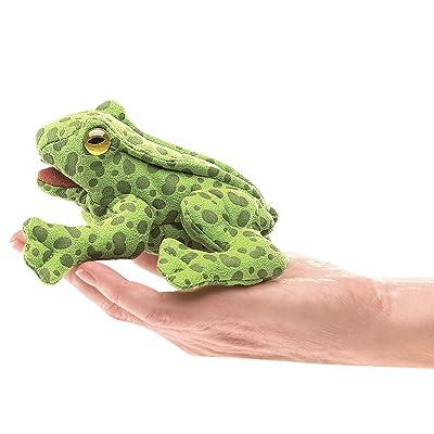 Folkmanis Mini Frog Finger Puppet Plush: Toys & Games