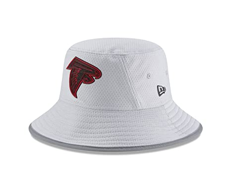 0c87d9a3aa5 New Era Atlanta Falcons NFL 2018 Training Camp Sideline Bucket Hat - Gray