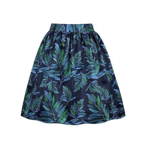 VERNASSA Mujer Falda Corta Estilo Vintage de los años 50 Falda ...