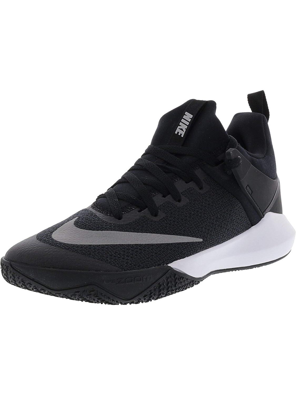 Nike Men's Zoom Shift Tb Black/White Ankle-High Mesh Basketball Shoe - 8.5M B01NAPK7F0