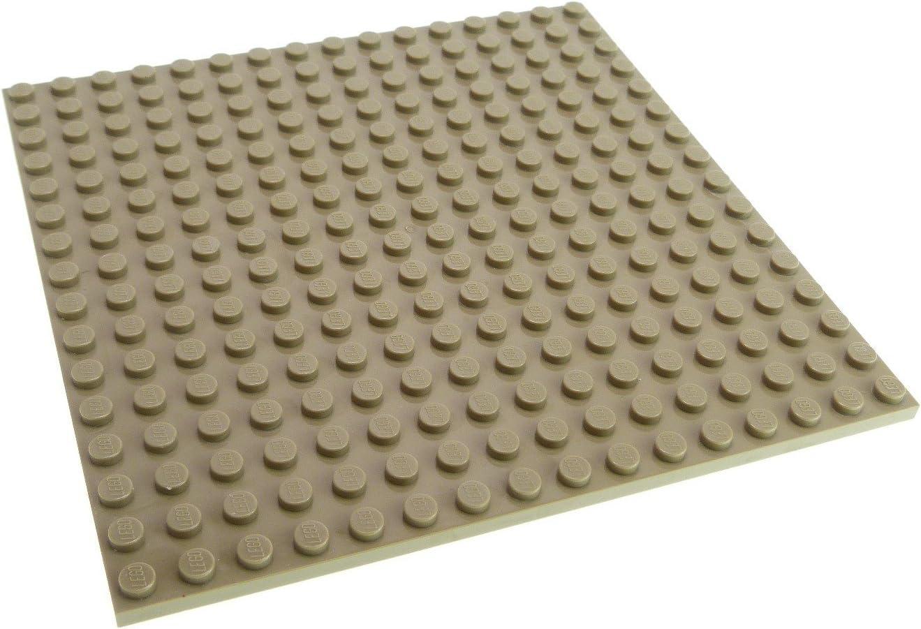 beidseitig bespielbar Weiß LEGO® Bauplatte 16x16 Noppen