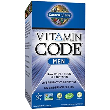 Garden of Life Raw Whole Food Vitamin Supplement with Probiotics - Best Rated Probiotic for Men