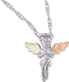 product image for Black Hills Gold on Silver Angel Pendant