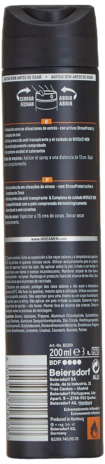 Nivea Stress Protect Men Desodorante Vaporizador - 20 cl: Amazon.es: Amazon Pantry
