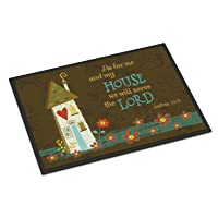 Caroline's Treasures VHA3005JMAT As for Me and My House Indoor or Outdoor Mat 24x36...
