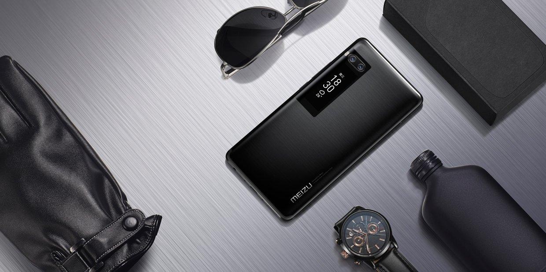 Original Meizu Pro 7 Plus Smartphone 6GB 64GB 5.7'' 2K Super AMOLED Screen Deca Core Helio X30 Dual Rear Camera Two-sided Screen (Black)