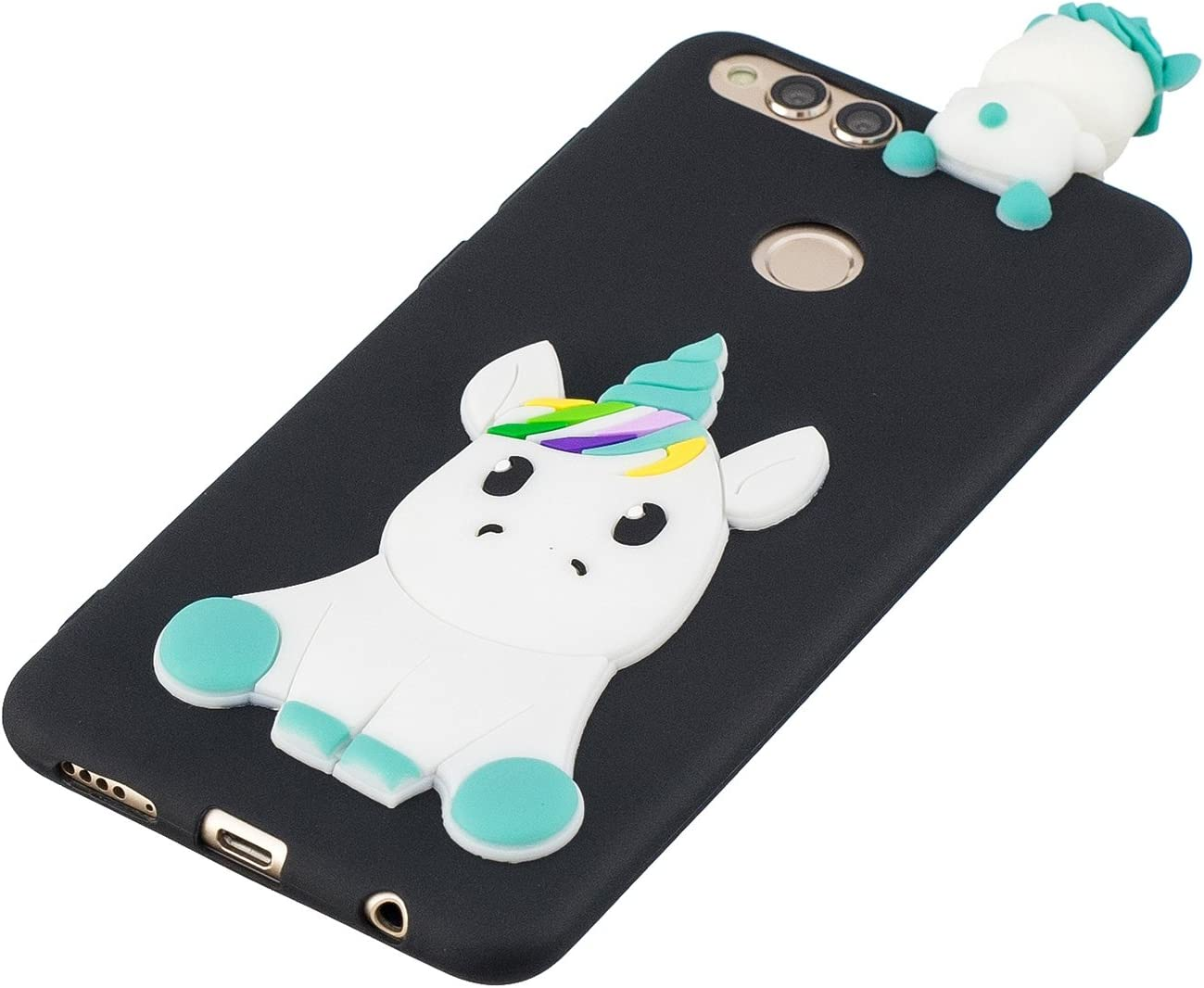 Coque Huawei Honor 7X Silicone Coque pour Huawei Honor 7X Slim Protection Housse Licorne Verte Klassikaline Coque Honor 7X