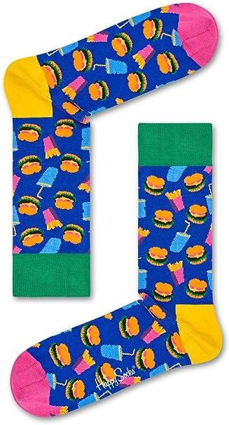 Happy Socks Hamburger Sock Calcetines para Hombre: Amazon.es: Ropa y accesorios