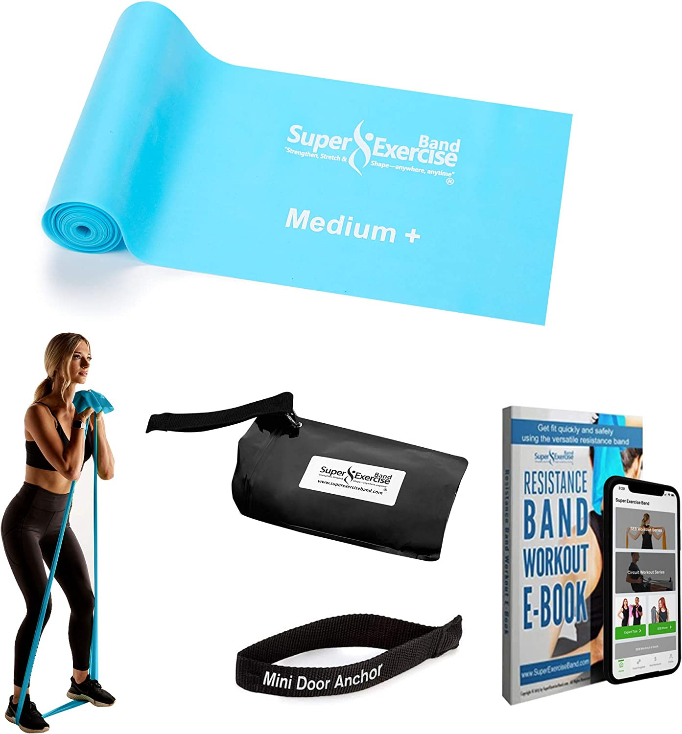 Fitness Stretch Bands Resistance Set Fit for Men//Women SHANGJ Resistance Bands Exercise Bands with 3 Fitness Levels Carry Bag