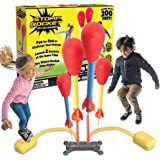 The Original Stomp Rocket Dueling Rockets, 4 Rockets and Rocket Launcher - Outdoor Rocket Toy Gift for Boys and Girls Ages 6