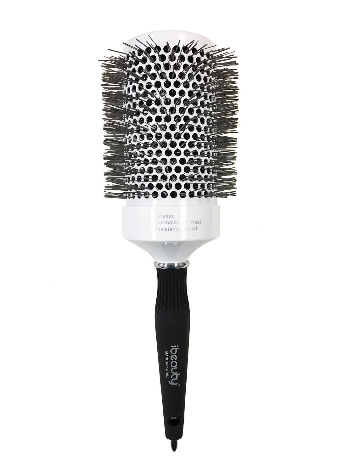 iBeauty 2.5'' (65mm) Ceramic Ionic Tourmaline Styling Curling Hair Brush for Women Blow Drying, Made in Korea (#1901)