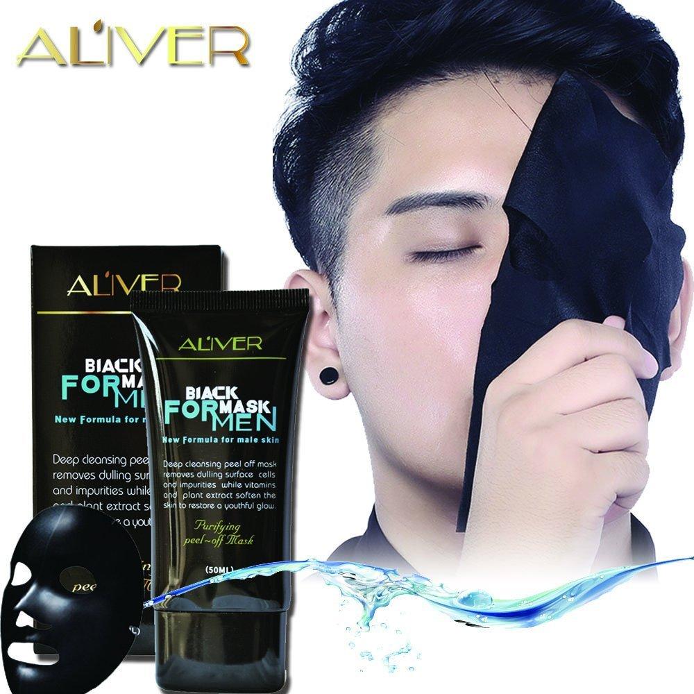 Aliver Black Mask Natural Activated Charcoal Mask Peel-Off Blackhead Remove Mask Facial Cleaning Mask Black Face Mask for Men