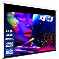 "eSmart Germany MIROLO Rollo-Leinwand [Größenauswahl] 187 x 140 cm (92"") 4:3 | Vollmaskierung | Heimkino Beamer Projektionsleinwand Rollo Leinwand LCD LED"