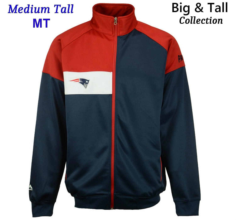 新しいEngland Patriots Adult Medium Tall Full Zip tri-tone Big & Tallトラックジャケット – チームカラー   B00WF8MJMW