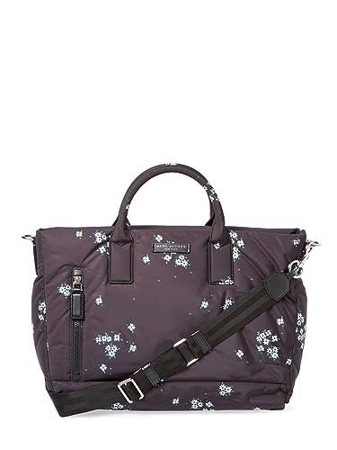 0d8e15331486 Amazon.com  Marc Jacobs Floral Nylon Baby Diaper Bag - Black  Shoes