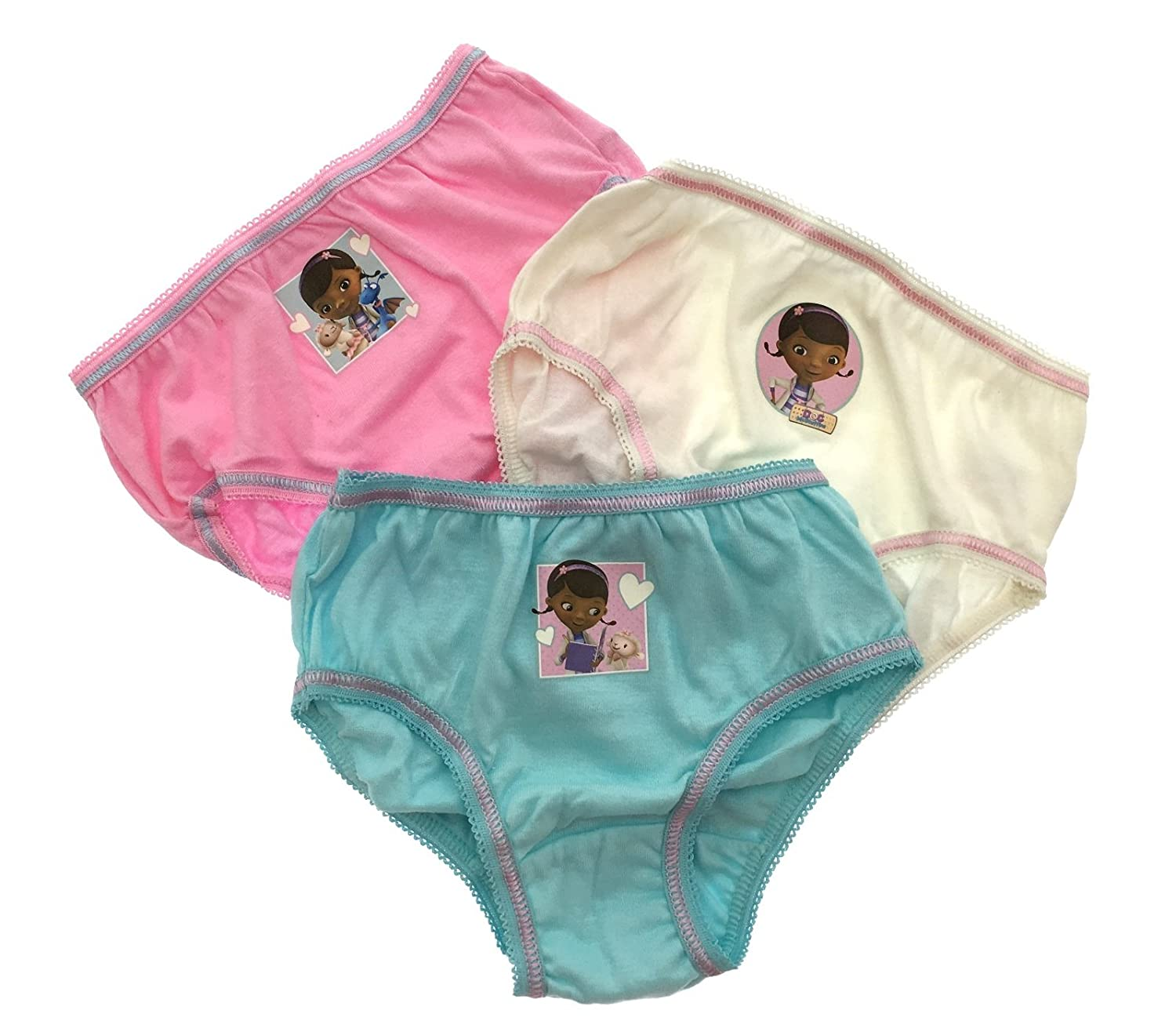 Kids Girls Childrens 3 Multipack Character Underwear Pants Briefs Knickers Sofia Disney Princess Doc McStuffins Size 1-8 Years