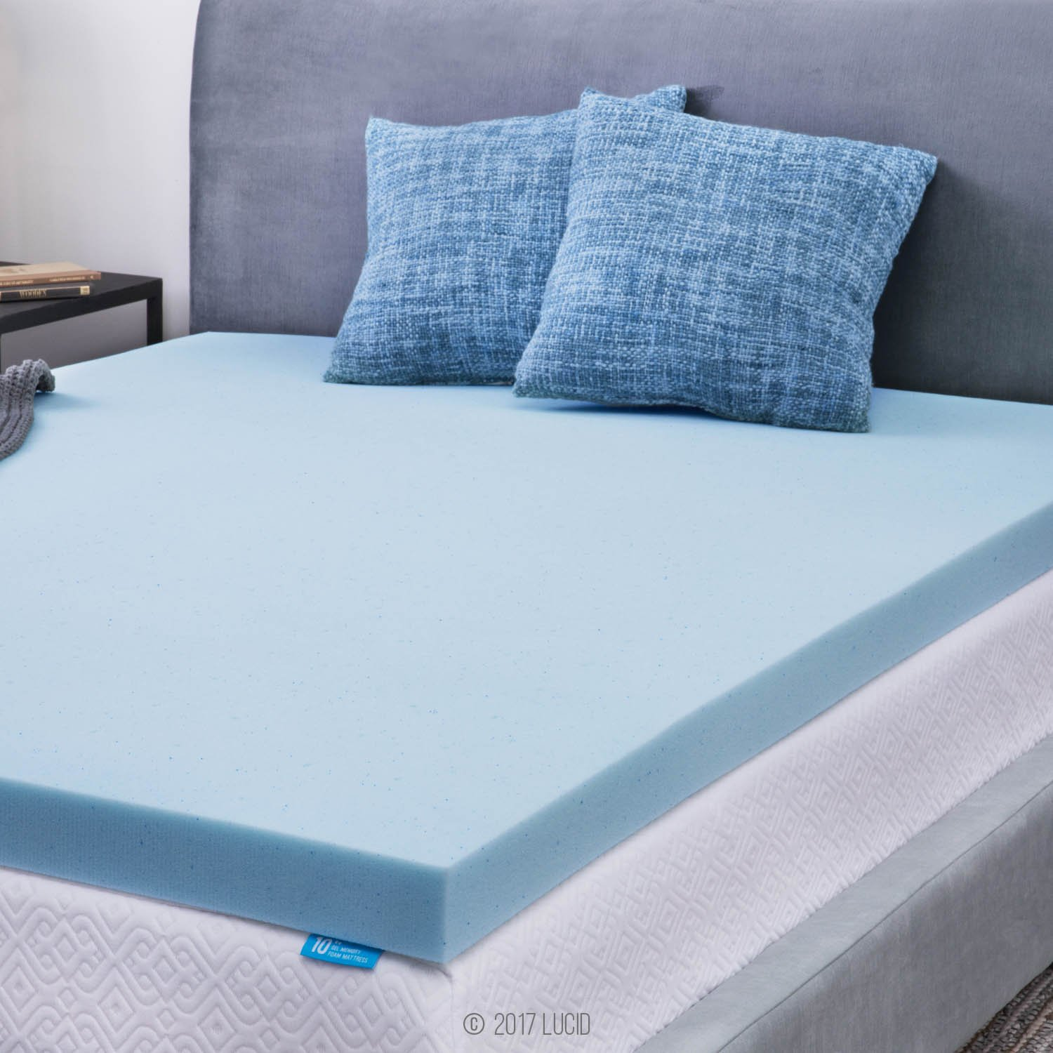 NEW 3-inch Gel Memory Foam Home Bed Mattress Topper Queen Size Cozy Sleep  Cover