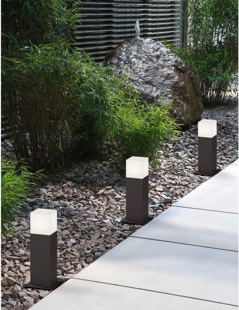2er Set design esterno area Illuminazione Stand Lampada Cortile Giardino Lampada Piantana