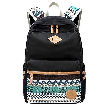 Mochila Escolar de Ocio Impresión Moderna Mochilas Escolares Juveniles Lona Bolsa Casual Backpack de Viaje para Niño Niña: Msliy: Amazon.es: Hogar