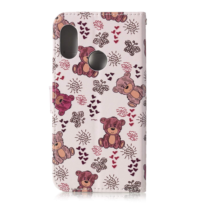 Carcasa Flip Xiaomi Mi A2 Lite Panda Funci/ón de Soporte Incorporado Funda M/ármol Piel con Tapa Suave TPU y Cuero de PU Funda Xiaomi Mi A2 Lite Cierre Magn/ético
