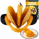 SAVORLIVING Mango Slicer Stainless Steel Blades with Non Slip Handles Extra Large Mango Cutter Divider for [up to 3.6 Inch Mango]