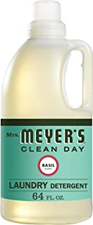 product image for Mrs. Meyer's Clean Day Liquid Laundry Detergent, Cruelty Free and Biodegradable Formula, Basil Scent, 64 oz (64 Loads)