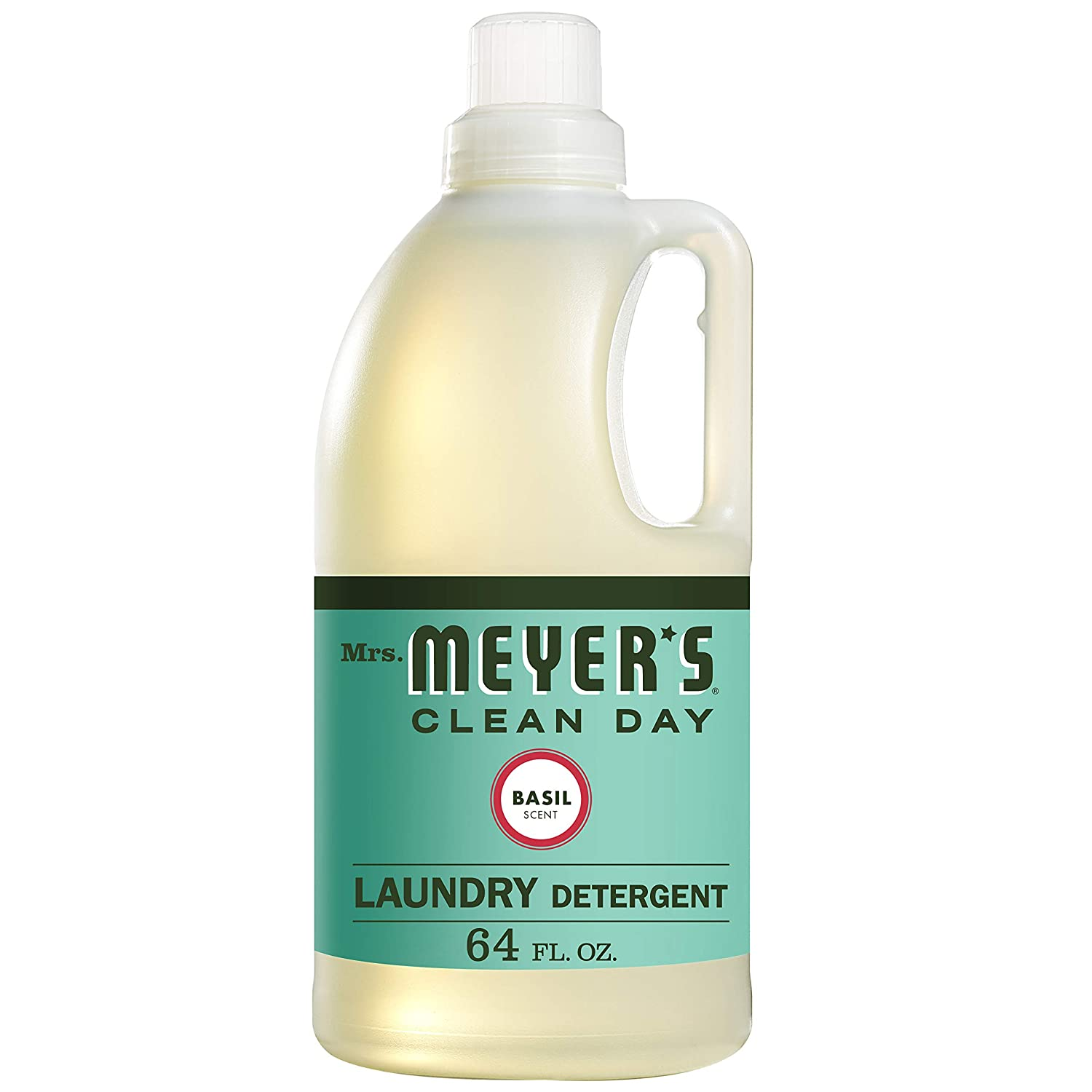 Mrs. Meyer's Clean Day Liquid Laundry Detergent, Cruelty Free and Biodegradable Formula, Basil Scent, 64 oz