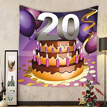 Amazoncom Gzhihine Custom tapestry 20th Birthday Decorations