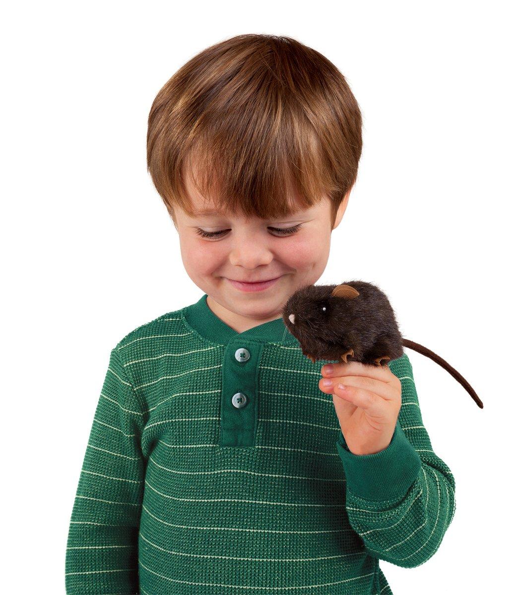 Folkmanis Mini Brown Mouse Finger Puppet