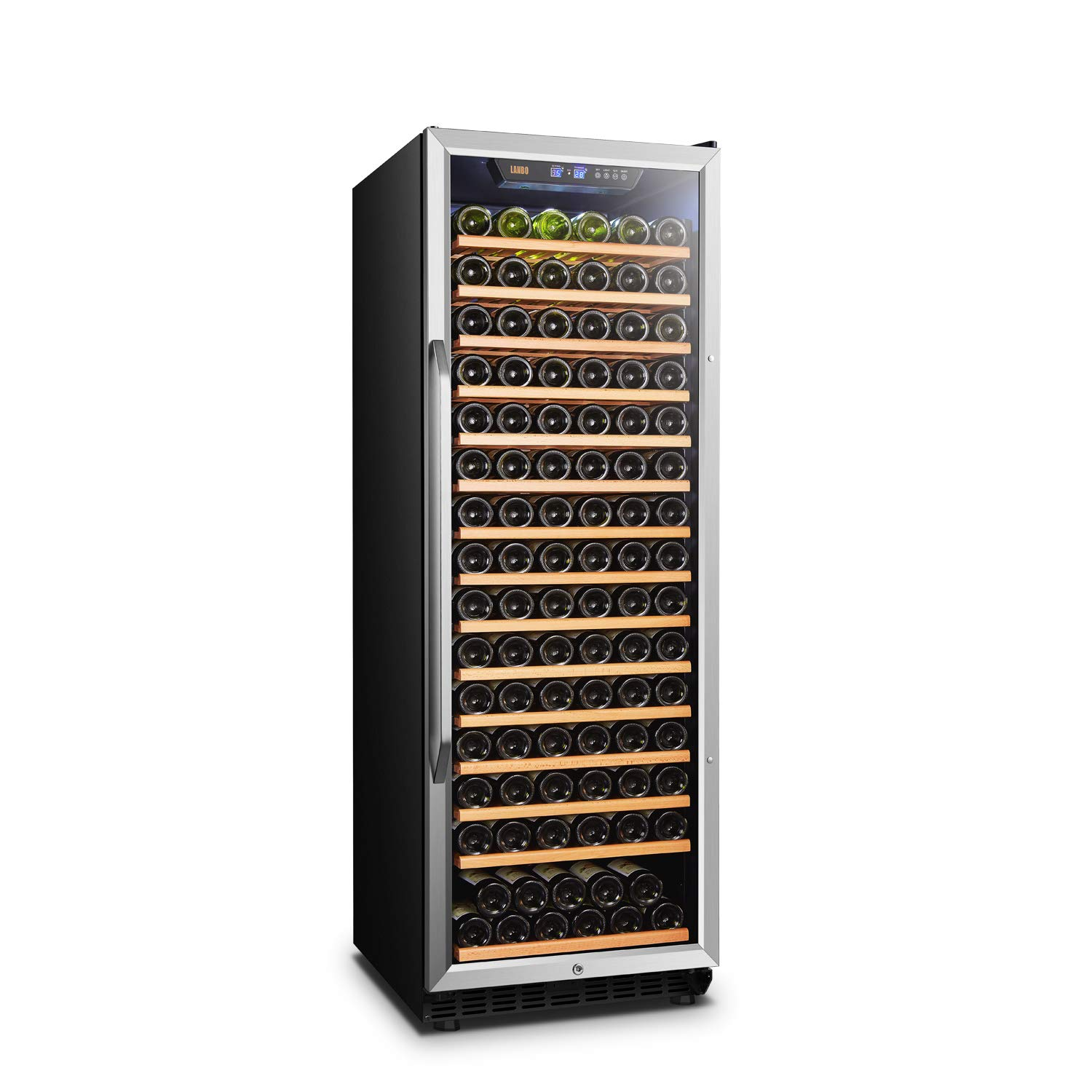 Lanbo Compressor Built-in Single Zone Wine Cooler with Safety Lock, 171 Bottles by Lanbo