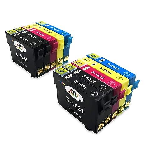 EBY 16XL Cartuchos de Tinta, Pack de 10 Trabajar con Compatible para Epson Workforce WF-2630WF WF-2510WF WF-2530WF WF-2650DWF WF-2750DWF WF-2760DWF ...