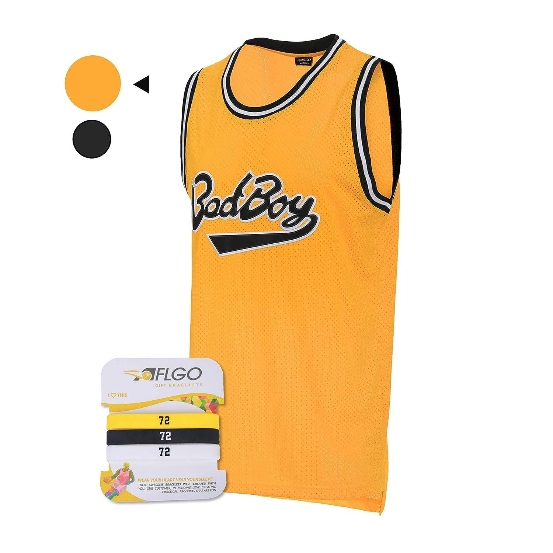 Top Bonus Combo Set mit Armb/ändern 90er Jahre-Kleidung Notorious Biggie Kost/üm Sportbekleidung gen/äht AFLGO BadBoy #72 Basketball-Trikot S-XXXL