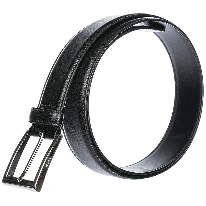 fee2623433bd Prada ceinture homme en cuir noir EU 90 2CC002X72F0002  Amazon.fr   Vêtements et accessoires