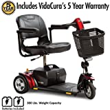 Pride Go-Go Elite Traveller Plus 3-Wheel Scooter Including 5 Year Extended Warranty