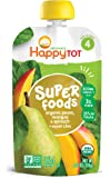 Happy Tot Superfoods Stage 4 Organic Toddler Food Pear Mango Spinach, 4.22 Ounce Pouch (Packaging May Vary)