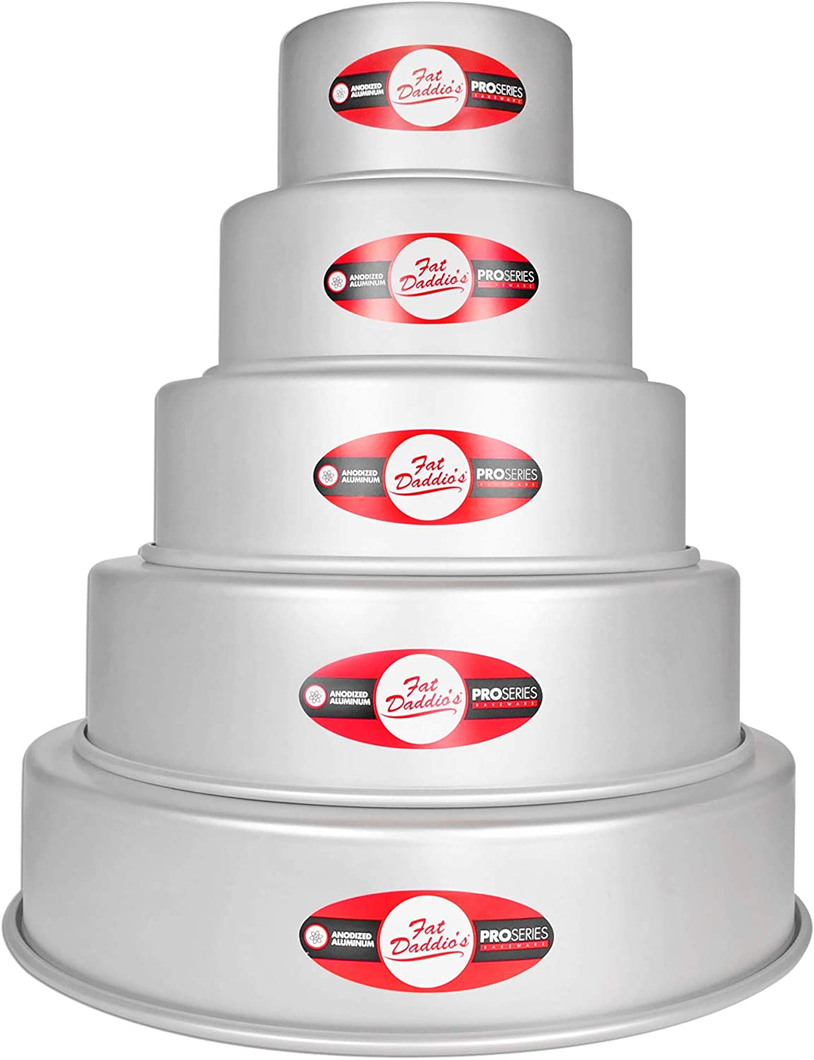 7 9 Fat Daddios 5 Tier 3 5 11 and 13 Round Cake Pan Set